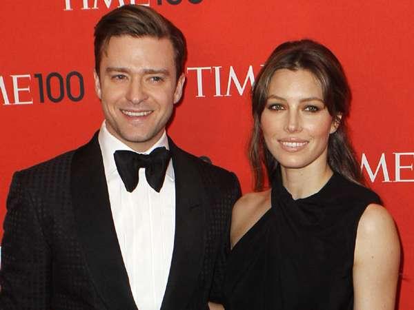 Justin Timberlake & Jessica Biel Tampil Serba Hitam