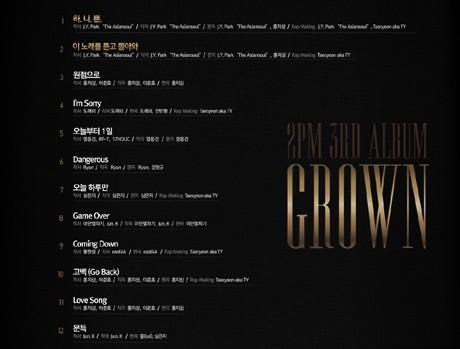 Ini Dia Daftar Lagu di Album Terbaru 2PM \Grown\