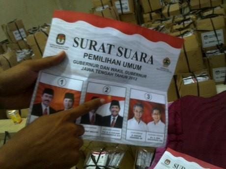 Panwaslu Semarang Temukan 20 Ribu Surat Suara Pilgub Jateng Rusak