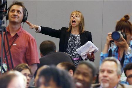 Nekat! Perempuan Ini Interupsi Pidato Presiden AS Barack Obama