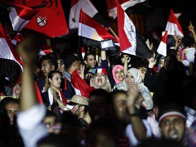 Rakyat Mesir Rayakan Penggulingan Morsi