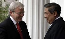 Presiden SBY dan PM Australia Kevin Rudd Bertemu di Istana Bogor