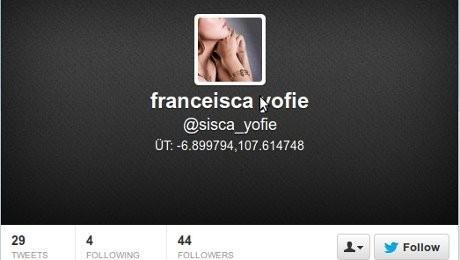 Akun Twitter dan Facebook Milik Sisca Sudah Lama Tidak Update