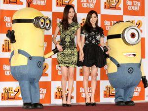 Keceriaan Taeyeon dan Seohyun SNSD dengan Minion