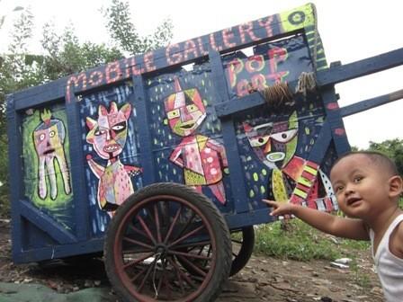 Lukisan Gerobak Pemulung dan Komik Curhatan Penghuni Lapas