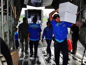 Hercules TNI Kirim Bantuan ke Filipina