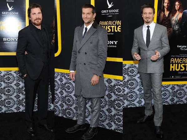 3 Pria Brewok di Premiere American Hustle