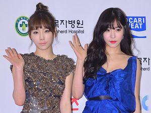 Cantiknya Taeyeon dan Tiffany SNSD di GDA 2014