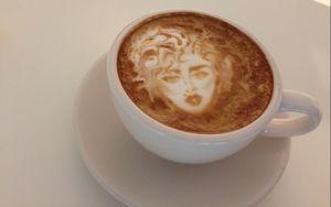 Wouw! Ada Wajah Rachael Ray di Atas Coffee Latte