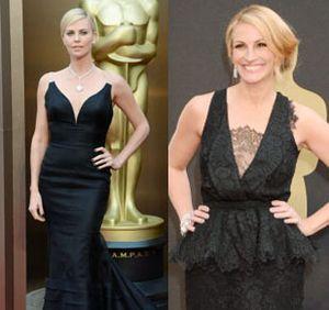 Foto: Elegan Misterius, Para Aktris Berbalut Busana Hitam di Oscar 2014