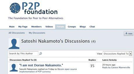 Pengakuan Satoshi Nakamoto.