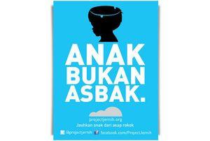 Anak Bukan Asbak, Project Jernih Kampanyekan Stop Merokok Dekat Anak