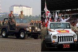 Prabowo dan Jokowi di Atas Jeep