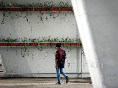Kolong Jembatan Slipi Bersih dari Coretan