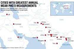 Tahan Nafas, Ini Dia 20 Kota Paling Berpolusi di Dunia