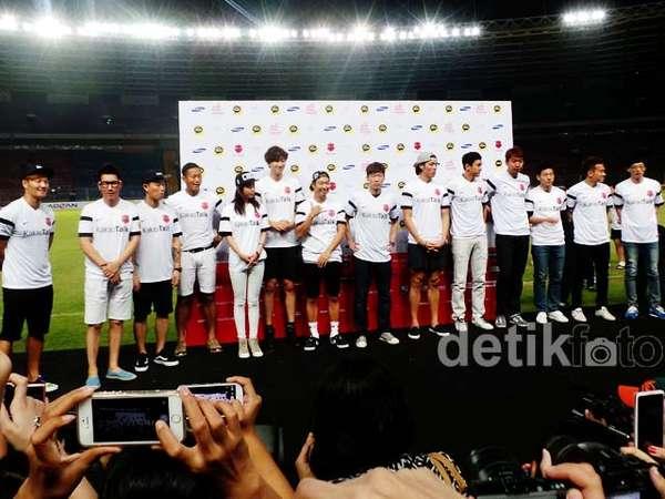 Yuk, Intip Suasana Jumpa Pers Running Man di Jakarta!