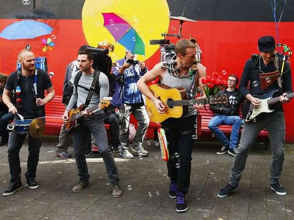 Foto-foto Coldplay Syuting Video Klip A Sky Full of Stars