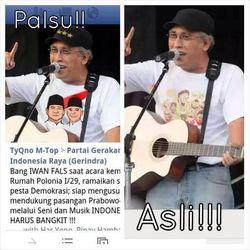 Fotonya Diedit Dukung Prabowo-Hatta di Twitter, Iwan Fals Berang