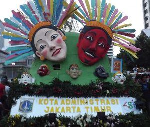 Parade Topeng di Jakarnaval 2014
