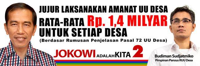 Prabowo-Hatta Janji Rp 1 M per Desa, Jokowi-JK Janjikan Rp 1,4 M