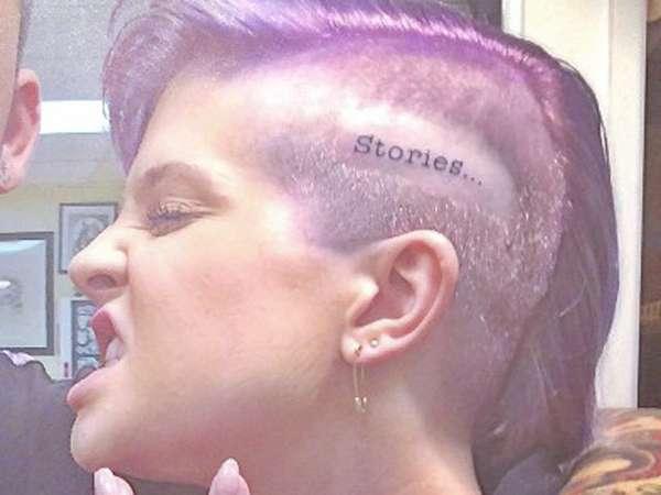 Wow, Kelly Osbourne Bikin Tato di Kepala