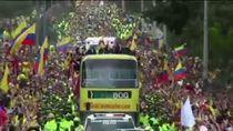 Skuad Kolombia Disambut Bak Juara Dunia