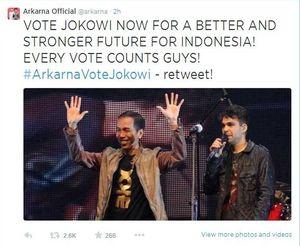 Tak Hanya Sting, Jason Mraz dan Arkarna Juga Beri Dukungan untuk Jokowi