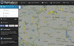 Penampakan Para Pesawat Hindari Langit Ukraina
