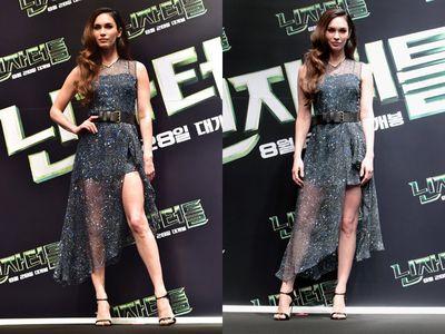 Dress Menerawang Megan Fox di Seoul