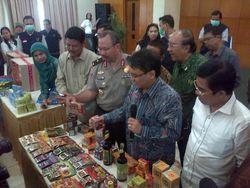 Kerjasama dengan Interpol, BPOM Sita 1.530 Obat dan 1.963 Kosmetik Ilegal