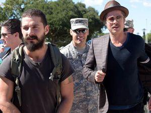 Brad Pitt dan Shia LaBeouf di Pos Militer Fort Benning