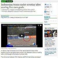Borok Sepakbola Indonesia di Media Asing