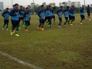 Timnas Indonesia Latihan Perdana di Hanoi