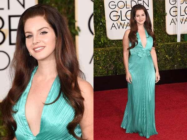 Senyum Lebar Lana Del Rey di Golden Globe 2015