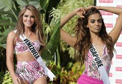 Foto: Elvira dan Finalis Miss Universe 2014 Jadi Model Fashion Show Swimsuit
