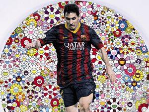 Seniman Jepang dan Inggris Bikin Potret Lionel Messi untuk Amal