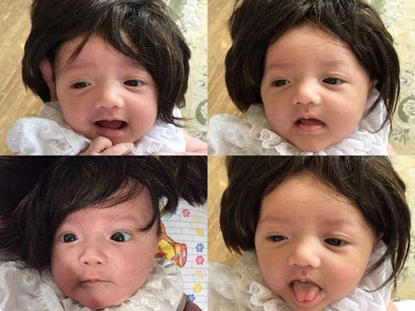 Lucunya! Bayi Anang dan Ashanty Bergaya Pakai Wig