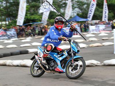 Suzuki Gelar Balapan Satria di Malang