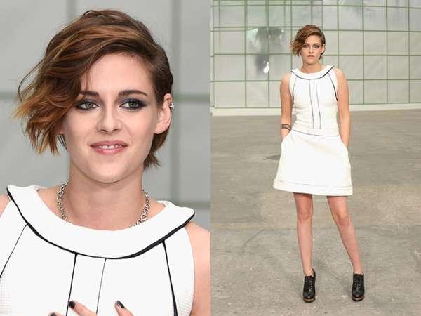 Gaya Chic Kristen Stewart di Paris Fashion Week