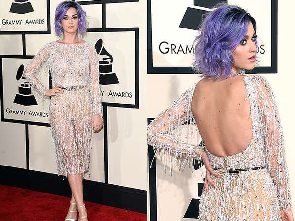 Katy Perry Dibalut Dress Menerawang di Grammy 2015