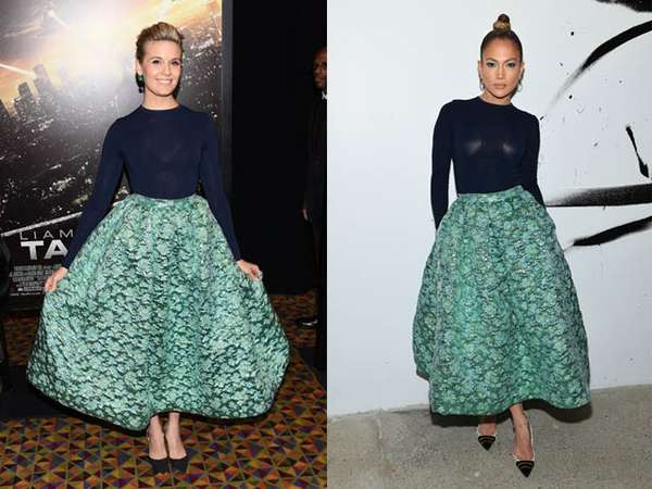 Siapa Lebih Wow dengan Busana ini, Maggie Grace atau J.Lo?