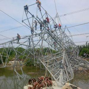 Besi Tower Listrik PLN Dicuri Untuk Makan dan Narkoba