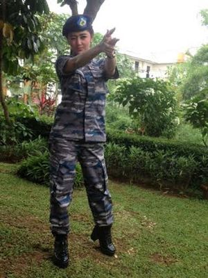 TNI AL Lirik Dewi Persik untuk Duta Bahari