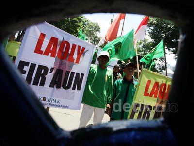 Kader PPP Kubu Djan Faridz Demo di Kemenkum HAM