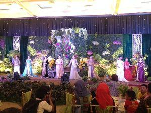 Pelaminan Flora Nusantara di Wedding Art Festival akan Dapat Rekor MURI