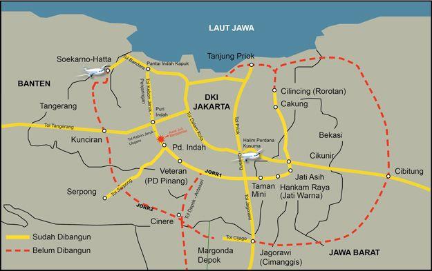 JORR 2 Cengkareng-Cilincing Solusi Kemacetan Tol JORR, Selesai Tahun 2019