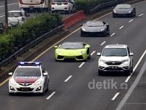 Polisi Kawal Konvoi Lamborghini