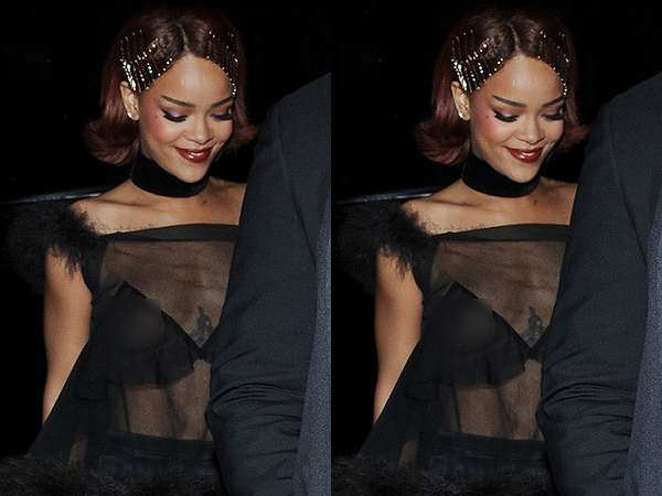 Rihanna Ekspos Payudara di After Party Met Gala 2015