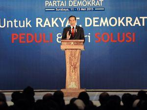 Jokowi Hadiri Kongres PD di Surabaya