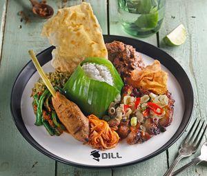 Mencicip Tongseng dan Nasi Komplet di Dill Gourmet
